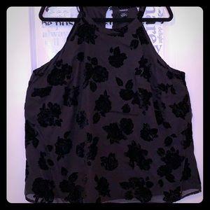 Black Velvet Roses top